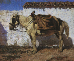 Vasily Dmitrievich Polenov. White horse. Normandy