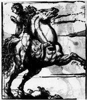 Джованни Антонио де Лодесанис Порденоне. Скачущий во весь опор всадник