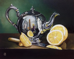 Hope Sosnovikova. Still life with a kettle