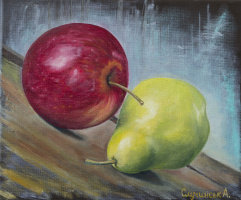 Alina Alexandrovna Kuchinskaya. Apple and pear