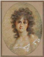 Федор Петрович Чумаков. Молодая женщина с кудрями.