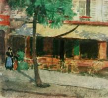 Александр Васильевич Шевченко. Ресторан на улице Вожирар. 1906 11х12,2