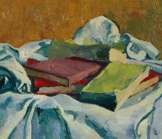 Giovanni Giacometti. Still life with books