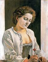 Фердинанд Ходлер. Женщина с красным цветком