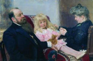 Илья Ефимович Репин. Семейный портрет Деларовых