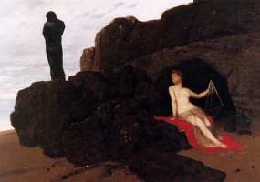 Arnold Böcklin. Odysseus and Calypso
