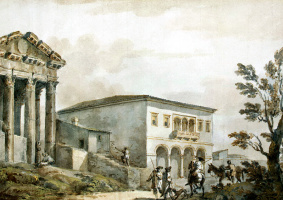 Шарль-Луи Клериссо. Храм Августа в Поле