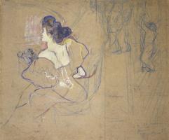 Henri de Toulouse-Lautrec. Madame Natanson in the theater