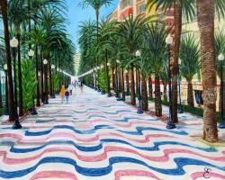 Дмитрий Еременко. Promenade Explanada, Alicante, Spain