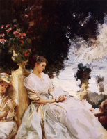 John Singer Sargent. In the garden, Corfu