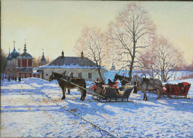 Suzdal. Horses