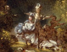 Жан Оноре Фрагонар. Эскиз для «Преследования»