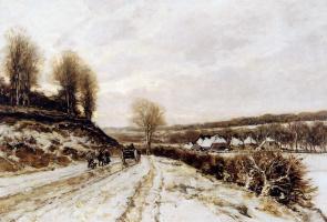 Апол Лодевейк. Зимний пейзаж