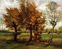 Vincent van Gogh. Autumn landscape with four trees