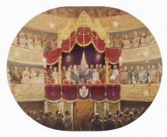 Михай Зичи. Парадный спектакль в честь германского императора Вильгельма I в Михайловском театре