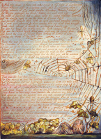 """William Blake. In the web. Illustration for the poem """"Europe: a prophecy"""""""
