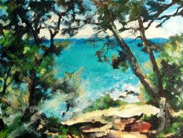 Olga Shabla. On the way to the sea (30x40 cm, canvas, oil, 2018)