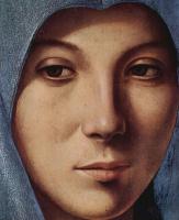 Антонелло да Мессина. Благовещение, деталь: Лик Марии