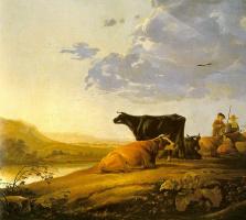 Альберт Кейп. Молодой пастух с коровами