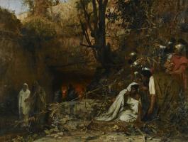 Генрих Ипполитович Семирадский. Гонители христиан у входа в катакомбы