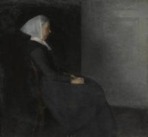 Вильгельм Хаммерсхёй. Фредерикке Амалия Хаммерсхёй, урожденная Ренцманн, мать художника