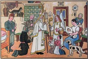 Йозеф Лада. Святой Микулаш, ангел и черт