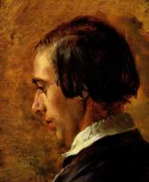 Адольф фон Менцель. Портрет брата художника Рихарда