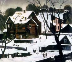 Семен Андреевич Павлов. Зимний пейзаж