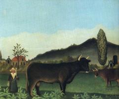Анри Руссо. Пейзаж с коровой