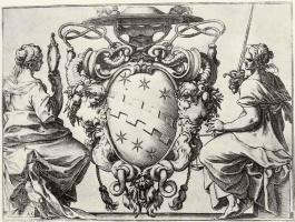 Лодовико Карраччи. Герб кардинала Чинцио Альдобрандини