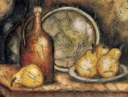 Паула Каисси. Натюрморт с грушами