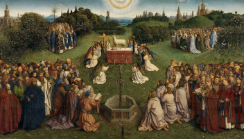 The Ghent altarpiece. Snippet: The Worship Of The Lamb