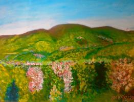 Марианна Дмитриевна Солтук. Вид с Бамовской горы весной. Ужгород