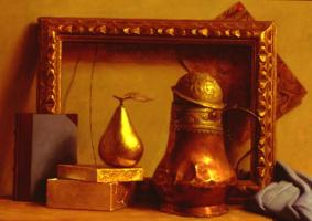 Патриция Уотвуд. Натюрморт в золото и синий