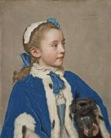 Жан-Этьен Лиотар. Мария-Фредерика ван Рид-Атлон в семилетнем возрасте