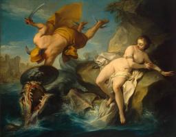 Charles Andre van Loo. Perseus and Andromeda