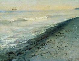 Лев Феликсович Лагорио. Берег моря близ Алушты. 1889