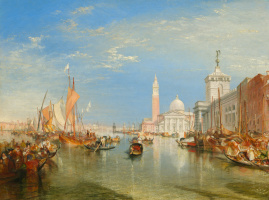 Joseph Mallord William Turner. Venice. Dogana and Basilica of San Giorgio Maggiore