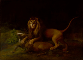 George Stubbs. Lion attacking deer