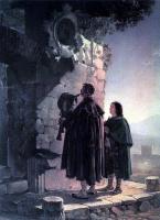 Карл Павлович Брюллов. Пифферари перед образом мадонны