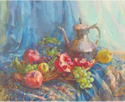 "Victoria Korkishko. ""Still life with pomegranate"""