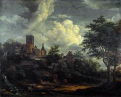Якоб Исаакс ван Рейсдал. Замок на холме у реки