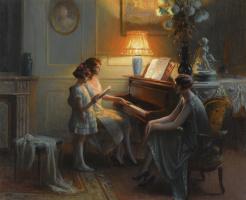 Singing lesson.