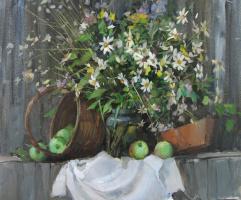 Sergey Anatolevich Bondaryuk. Still life with daisies