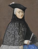 Жан-Этьен Лиотар. Портрет сидящей дамы в венецианском карнавальном костюме