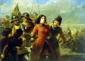 Адольф Александр Дилленс. Пленение Жанны д Арк
