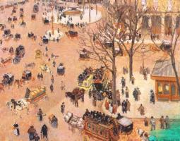 Camille Pissarro. Theatre square