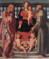 Якопо Понтормо. Мадонна с младенцем и двумя святыми
