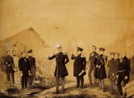 Михаил Александрович Зичи. Николай I на строительных работах. 1853