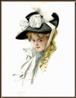 Харрисон Фишер. Шляпа с белыми цветами
